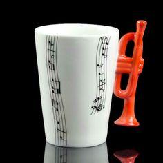 Trumpet Music Note Coffee Mug
