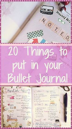 20 Things to put in to your bullet journal. Ideas and inspiration for what to add into your bullet / bujo / lists journal. Kerrymay._.Makes #bulletjournal #bujo #bujoinspiration