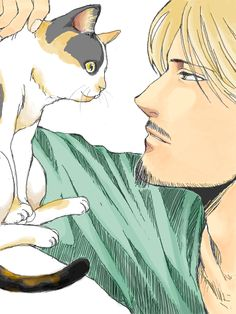 Mike Zacharias with kitty SnK <<< and Sniffy has suddenly become the cutest thing ever.