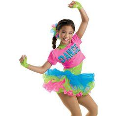 Girls' Tee Wire Skirt Biketard; Weissman Costumes ❤ liked on Polyvore featuring adopt, dance and dance costumes Hip Hop Costumes, Jazz Costumes, Girl Costumes, Hip Hop Outfits, Dance Outfits, Dance Dresses, Dance Recital Costumes, Cute Dance Costumes, Girls Dancewear