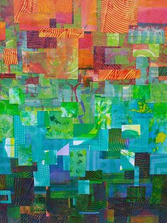 """""""Ombre"""" style collage, using gelli prints by feliciaborges via Flickr. Amazing collage!"""
