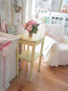 Table Vintage chippy original painted by Vintagewhitecottage