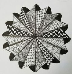 Afbeeldingsresultaat voor zentangle patterns how to draw