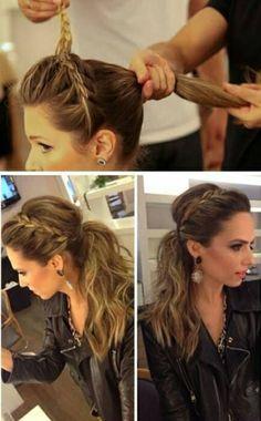 Braided ponytail hair do