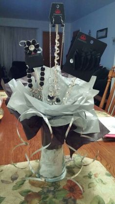 Starlet shimmer display for a raffle giveaway for Paparazzi jewelry gift basket