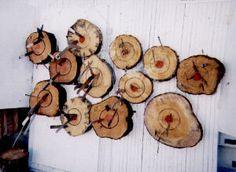 Log rounds make excellent knife-throwing targets!