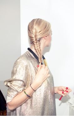 Vogue Daily — The finished fishtail braid.     Photographed by Leslie Kirchhoff