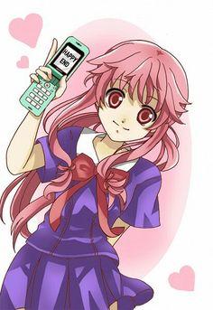 Fan art of Mirai Nikki's Yuno Gasai Yandere Anime, Animes Yandere, Rwby Anime, Cute Anime Pics, I Love Anime, Yuno Mirai Nikki, Otaku, Mirai Nikki Future Diary, Huawei Wallpapers