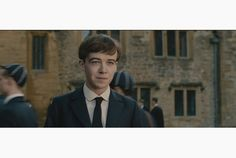 Alex Lawther as the young Alan Turing in The Imitation Game, which stars Benedict Cumberbatch as the adult mathematician and code breaker.