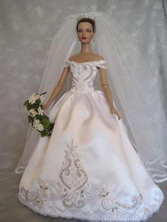 OOAK Bridal Gown for Robert Tonner Tyler por DeniseDevotoDesigns