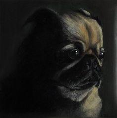 "Daily Paintworks - ""Pensive"" - Original Fine Art for Sale - © Amanda Bilson"