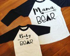 mama bear baby bear little bear matching mommy and me shirts