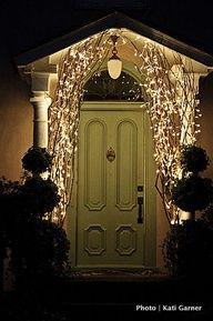 Lights sticks up doorway