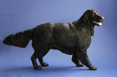 Flat Coated Retriever Dog - made by Harriet Knibbs Sculptures Ltd