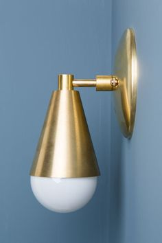Solid brass wall sconce. The sconce looks great in any direction. Dimensions…