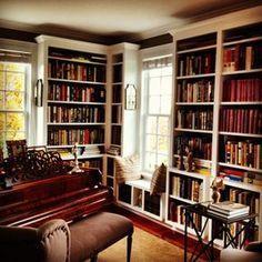 piyanolu kütüphane odalarına bayılıyorum