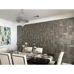 3D 'Cubes' Wall Panels (Set of 10) | Overstock.com Shopping - The Best Deals on Wall Paneling