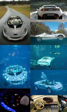 World First Underwater Car. The sQuba, developed by Swiss company Rinspeed, is the world's first car that can be driven both on land and under water. (Photo by www.scubadiverinfo.com)