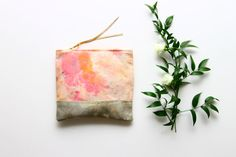 FLOWERS/ Hand painted make up pouch by DDSLLGirlsStore on Etsy, $27.00