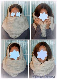 snood xxl au crochet / xxl crochet cowl
