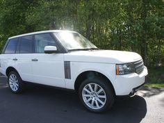 Land Rover Range Rover Supercharged White http://www.iseecars.com/used-cars/used-land-rover-range-rover-for-sale
