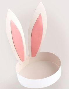 Paper Bunny Ears craft for Easter Easter Bunny Ears, Bunny Hat, Hoppy Easter, Bunny Ears Headband, Easter Card, Easter Activities, Activities For Kids, Party Activities, Spring Crafts