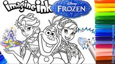 Rotulador Mágico de Disney Frozen de Imagine Ink con Ana y Elsa