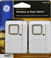 A wireless door alarm to prevent the door from being left open with chime or alarm option. Set of 2 for $19.99