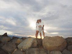 Joe & Caitlin near their 25th wedding anniversary at Launiupoko Beach Park, Maui, Hawaii. View more images at: http://mauiislandportraits.com/couples-photography-beach/