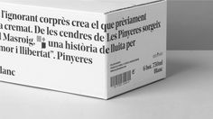 Pinyeres wines. Celler Masroig commissioned us to redesign one of their most emblematic products, Castell de les Pinyeres. In the XVIII century the township of Les Pinyeres was added to El Masroig and as a result they came up with a new flag that we have used as an inspiration to design the label.