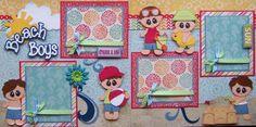 Beach Boys Summer Vacation 2 Premade Scrapbook Pages Paper Piecing 4 Album   eBay