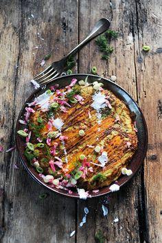 Mes paillassons de pommes de terre aux légumes multicolores !