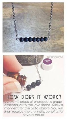 isn't this beautiful?!! it's a stainless steel and lava stone diffuser necklace. And it's only $15.99! Simply add one drop of essential oil or layer with several oils. The scent will last several hours up to a few days depending on the strength and quality of your oil. Your choice of 16″, 18″, or 20″ stainless steel chain.