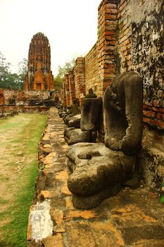 Vestiges Ayutthaya, Thailand (Ancienne capitale)