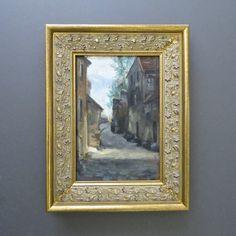 Antique Signed Oil Painting Large by DuncanGrantAntiques on Etsy