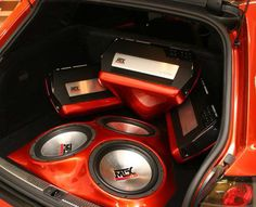 TA series #amplifiers and Thunder series #subwoofers in this custom fiberglass install. #mtxaudio