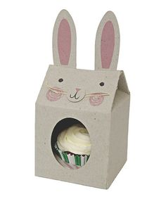 Love this Funny Bunnies Cupcake Box - Set of Four on #zulily! #zulilyfinds