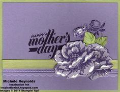 Mothers day card using April's stamp set
