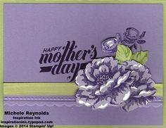 Mothers day card using April's stamp set stamp set, pumpkin idea, blossom mother, stippl blossom, paper pumpkin, mothers day cards
