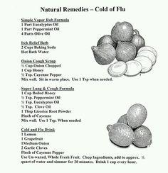 Natural remedies!