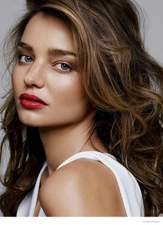 """Top model Miranda Kerr trades in wearing sexy lingerie looks for Wonderbra for a makeup feature published in Glamour's February 2015 issue. The Australian beauty shows off spring's hottest lipstick shades in """"Love Your Lips"""". Photographed by Alique and styled by Jessica dos Remedios, Miranda stuns in hues ranging from vibrant red to deep plum. Hung Vanngo worked on ..."""