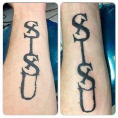 My Sisu tattoo original, and then after touch up. #sisu #Finland #Finnish…