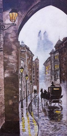 Foggy Night in the City by Judy Jones