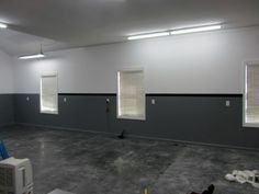 Grey And Black Garage Wall Paint Colors Contrasting Design Ideas                                                                                                                                                                                 More