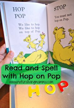 Celebrate Dr. Seuss Day – Hop on Pop - Read this wonderful beginners book with your kids and find other fun activities to do too! Art, sensory, recipes and more for Hop on Pop including Hop on Pop(corn)
