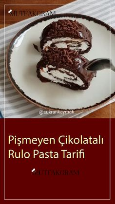 Pişmeyen Çikolatalı Rulo Pasta Tarifi Ungekochtes Schokoladen-Rollenkuchen-Rezept The post Ungekochtes Schokoladen-Rollenkuchen-Rezept appeared first on Pin makeup. Chocolate Roll Cake, Homemade Chocolate, Chocolate Recipes, Chocolate Chip Cookies, Bon Dessert, Dessert For Two, Cake Recipes, Dessert Recipes, Recipes