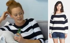 Southern Charm Kathryn's striped sweater.  Get the look for less at www.possessionista.com
