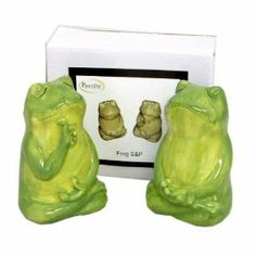"Frog Salt & Pepper Set (24 Pack) by DDI. $131.70. 100% Satisfaction Guaranteed.. High quality items at low prices to our valued customers.. We proudly offer free shipping. We can only ship to the continental United States.. All of the products showcased throughout are 100% Original Brand Names.. Please refer to the title for the exact description of the item.. Frog shaped ceramic salt/pepper set- hand painted, boxed, size 2"" x 2"" x 3 1/4"" high."