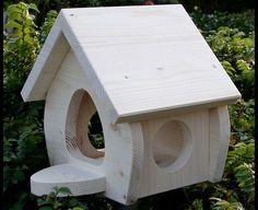 Nistkästen & Vogelhäuser - Vogelhaus Futterhaus natur Junior - ein Designerstück von wolle1197 bei DaWanda
