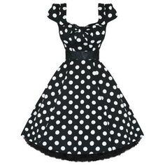 LADIES WOMENS NEW BLACK WHITE POLKA DOT 50S ROCKABILLY SWING PARTY PROM DRESS Hearts & Roses http://www.amazon.co.uk/dp/B0071ZHKE6/ref=cm_sw_r_pi_dp_ew9Uub14C9WZJ
